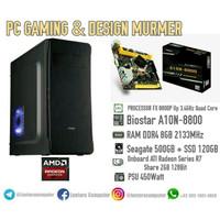 PC GAMING DAN DESIGN ANTI LAG AMD FX 8800P RAM 8GB SSD 120GB VGA 2GB