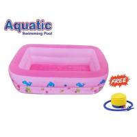 AQUATIC Kolam Renang Anak Rectangular 2 Ring C-001 / Swimming Pool