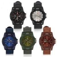 [Bayar di Tempat]5 Warna Elektronik Analog Wrist Watch Putaran Nylon