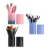 Brush Tabung Kuas Makeup Set 12 Pcs