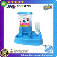 Tempat Makan Minum Kucing Anjing Automatic Pet Food Dispenser Full Set