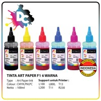 Tinta Printer Art Paper F1 Ink Black 100 ml for Printer Epson