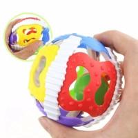 Mainan Bayi bola bayi - Rubber Ball Rattle - Shake Rattle roll ball