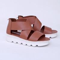 Sepatu Platform 5 cm Coklat Casual Real Pict Branded Catenzo SS 032