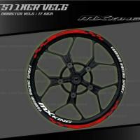 List Velg Sticker Velg - Yamaha MX KING - TYPE 2 - 17 INCH