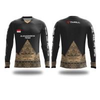 Kaos Jersey Sepeda Batik Jawa Custom