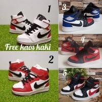 Nike Air Jordan size 30 - 35 sepatu anak olahraga sports basket merah