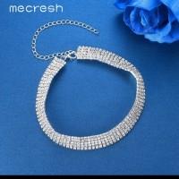 kalung unik wanita / shining choker statement necklace women