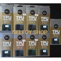 Samsung Note 10 TPU Anti Shock Gores Karet Full Curved tempered glass