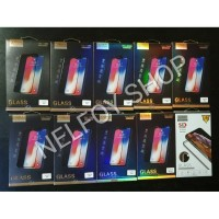TEMPERED GLASS Anti Gores Iphone X 10 Ten Full Layar Black FRONT BACK