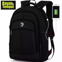Tas Ransel Laptop Polo Power Tas Pria Backpack Import 555 Hitam