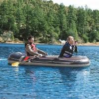 Perahu Karet banjir 3 orang sama Pompa dan Dayung 2