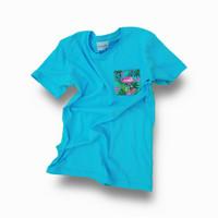 Kaos, T-shirt, Atasan, Slim Fit, Polos Biru Pastel, Katun Premium 100% - S