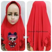 Jilbab Anak Airish MELODY+LED LOL Bisa Bunyi dan Nyala