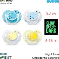 PROMO PHILIPS AVENT NIGHT TIME ORTHODONTIC SOOTHERS PACIFIER EMPENG