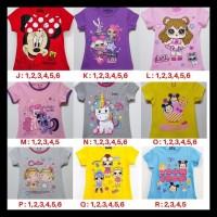 Kaos Baju Atasan Anak Perempuan Size 1-6 Tahun - Size 1