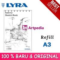 TERBARU (2018) LYRA SKETCHBOOK REFILL UKURAN A3 ISI 30 LEMBAR - SKETCH