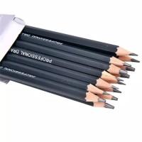 1 set pensil isi 14pcs untuk sketsa menggambar 6H sampai 12B