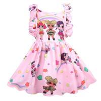 Long Dress Motif LOL Surprise Gaya Princess untuk Anak Perempuan