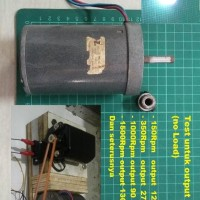 DC Motor Permanen Magnet 100V 1500Rpm untuk Mini Generator 1500Rpm Ou