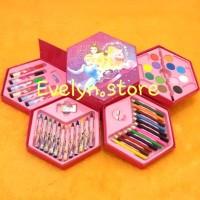 Crayon set 46 pcs 4 in 1 dengan 4 susun Untuk Mewarnai dan mengambar a