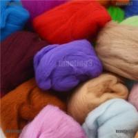 SALE Set 15 Warna Benang Wol Super Lembut untuk Jarum Felting DIY