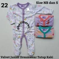 Piyama Bayi -) Velvet Junior Dreamwear Tutup Kaki Size NB, S, M & L