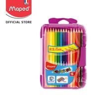 Maped Pensil Warna Smart Box 12 warna dan 3 warna fluorescent