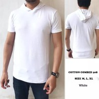 SP KAOS HOODIE POLOS COTTON COMBED 30s - Size M L XL - PENDEK - ALL