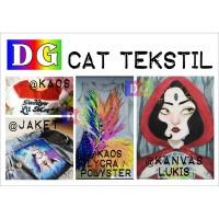 2 warna paket GOLD dan SILVER - Cat Tekstil / Lukis - untuk kaos / kan