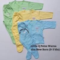 Piyama Bayi -) Little Q setelan PAnjang Tutup Kaki polos warna size ne