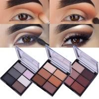 Stok Terbatas 1Pc Eyeshadow Warna Matte / Hitam / Coklat Hangat Sexy