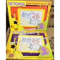 Magnit Smile Octopus Drawing Board Color Papan Tulis Magnet Warna