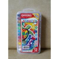 ATK0115GB (isi 12 Transparant) Crayon GREEBEL Oil Pastels 12 warna (bu