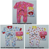 Piyama Bayi -) Aruchi Sleepwear Oblong Tutup Kaki Cupcake Size New Bor