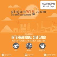 Sim Card Kazakhstan Unlimited FUP 6 GB for 8 Days Simcard Kazakhstan