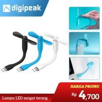 Kipas Angin Usb Flexible Mini Fan Bamboo Baling Baling Power Bank ACC