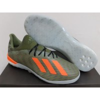 Sepatu Futsal Adidas X 19.1 IN Encryption Legacy Green Solar Orange