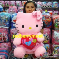 boneka hello kitty LOVE jumbo / hello kitty hati love besar