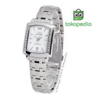 Mirage Jam tangan Original wanita permata silver 7442L - Putih