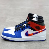 Nike Air Jordan 1 Mid Rush Blue Red 100% Authentic