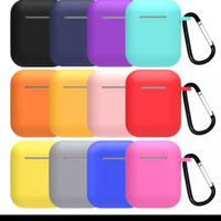 TERMURAHHHH ! CASE SILICONE AIRPODS 1/2 with carabiner
