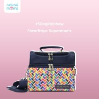 Natural Moms Cooler Bag Sling Rainbow / Tas Asi Bayi