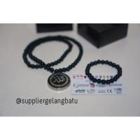 KALUNG lafadz giok hitam Ginsamyong silver al nabil azhikra obsidian