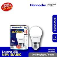 Hannochs NEW BASIC LED Bulb 3 Watt - Bola Lampu Bohlam LED 3 Watt