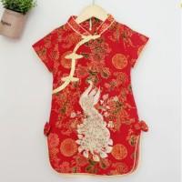 Cheongsam Peacock / Dress Sincia Imlek Anak / Cheongsam Anak Cewe