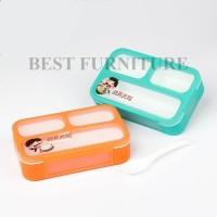 Best Lunch Box Yooyee Mini Kotak Makan 3 Sekat Anti Tumpah - Random