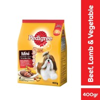 PEDIGREE Mini Makanan Anjing Ras Mini Rasa Beef and Vegetable 400 g