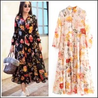 zara dress floral import bangkok