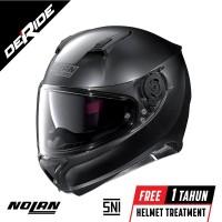 Helm Nolan N87 CLASSIC N-COM - Col. 010 (FLAT BLACK) SNI